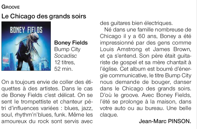 Boney Fields Ouest  France Bump City Review