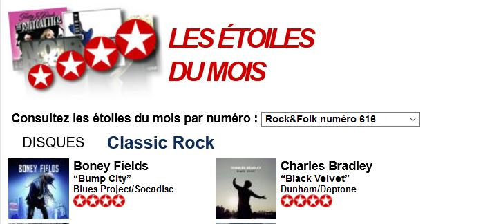 Star Du Mois Rock  Folk