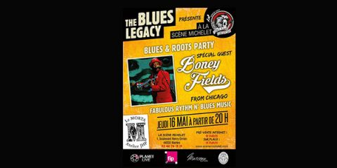 16 May 2019 - The Blues Legacy invites Boney FIELDS - NANTES (France - 44)